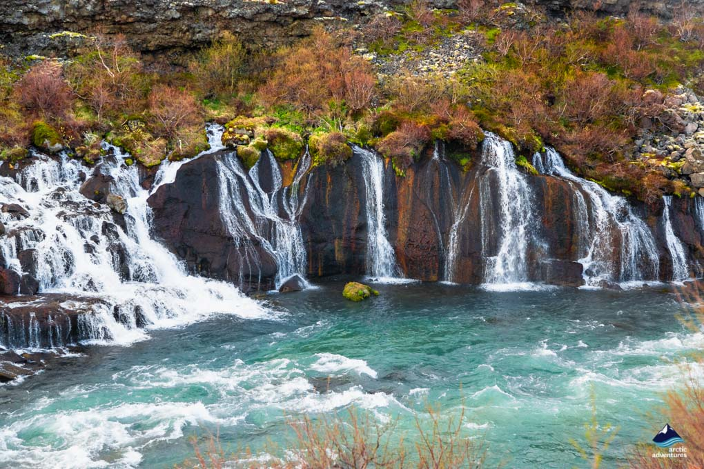 Hraunfossar waterfalls Iceland