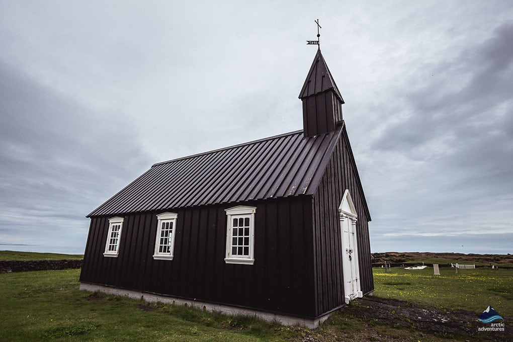 Budakirkja Church on Snaefellsnes Peninsula Iceland