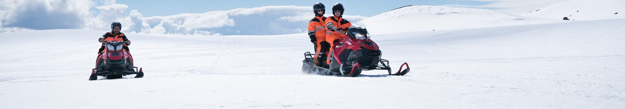 Snowmobiling Glacier Iceland
