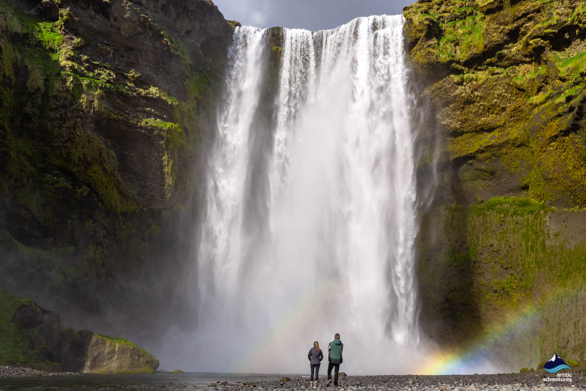 Skogafoss Waterfall with a Rainbow