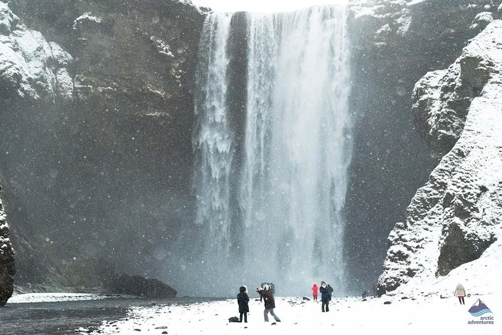 Winter at Icelandic Waterfall