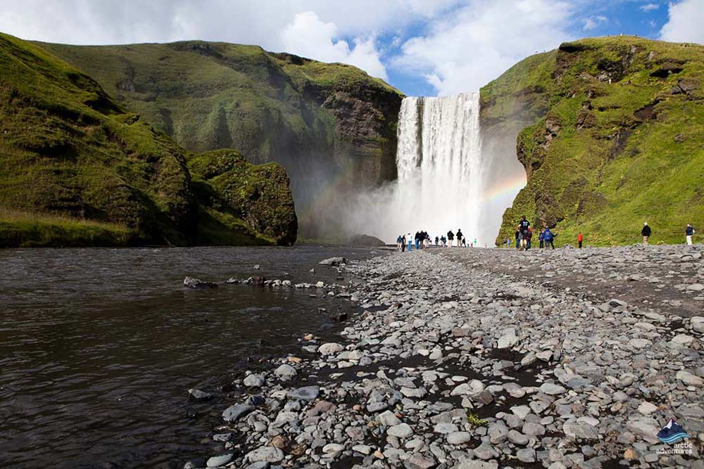 Skogafoss Waterfall in summer