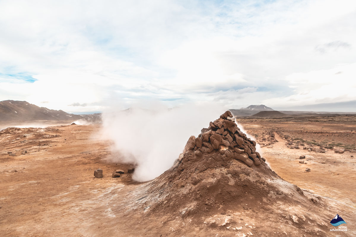 Geothermal Area in Myvatn Area
