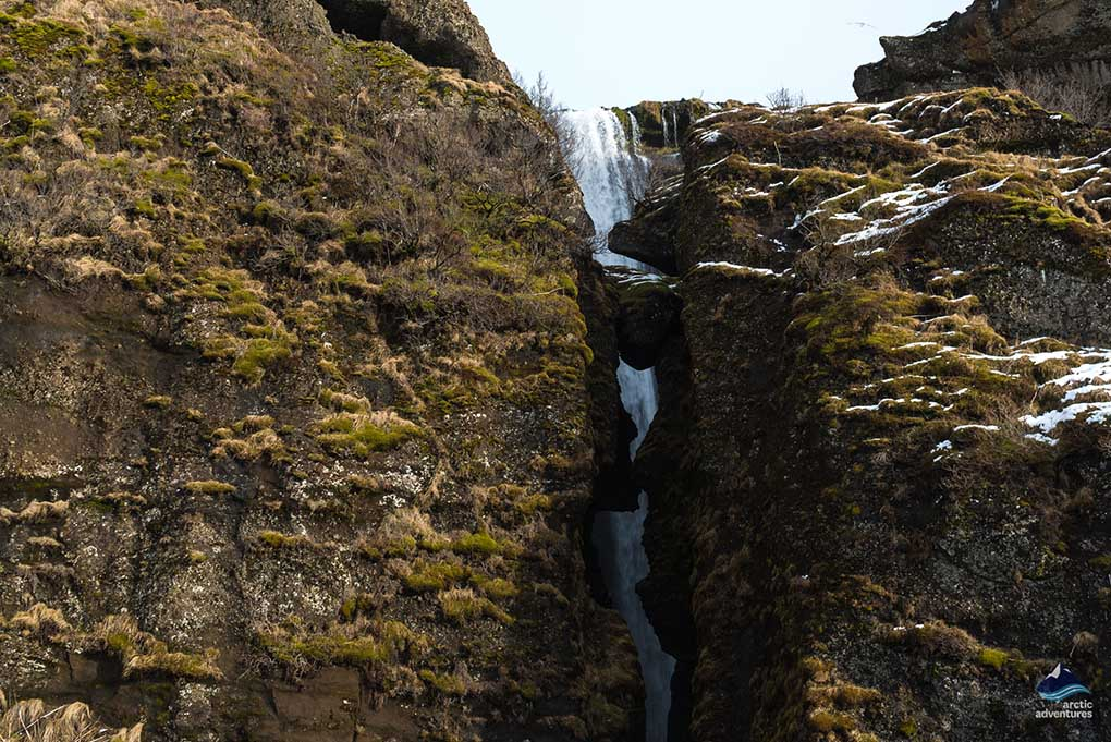 hidden waterfall near Seljalandsfoss
