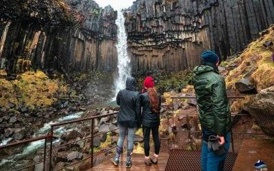 visiting Svartifoss waterfall