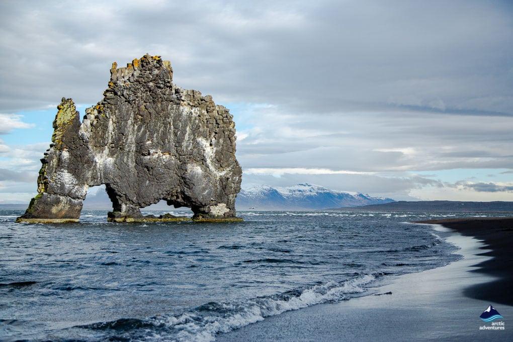 Hvitserkur in Hunafloi Bay Iceland