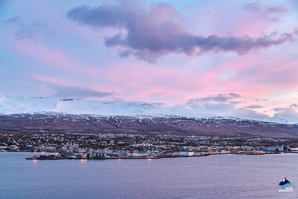 Akureyri in winter