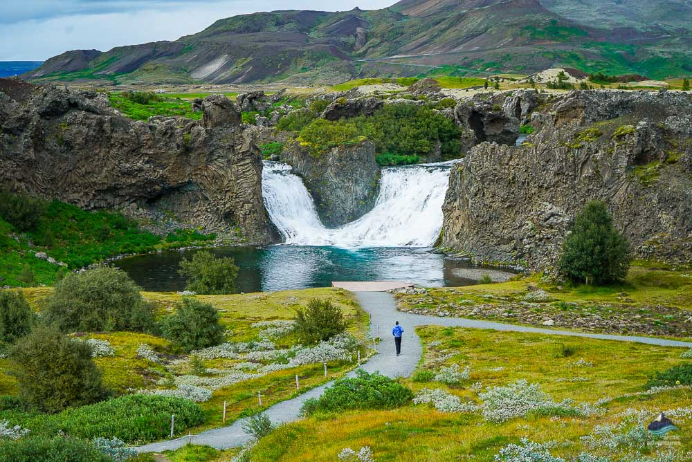 Hjalparfoss waterfall Iceland