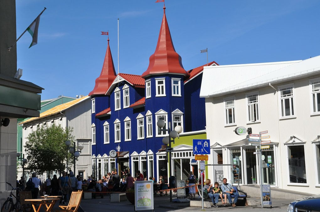 Downtown Akureyri North Iceland