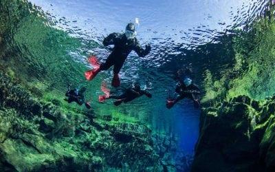 Snorkeling in Silfra Iceland