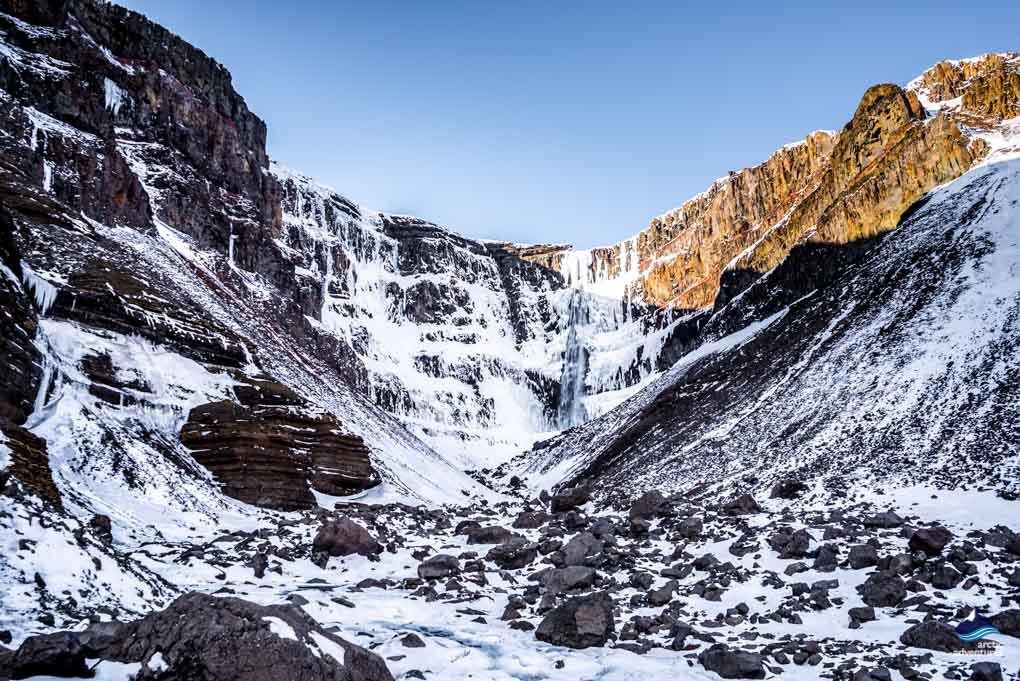 Hengifoss in Winter