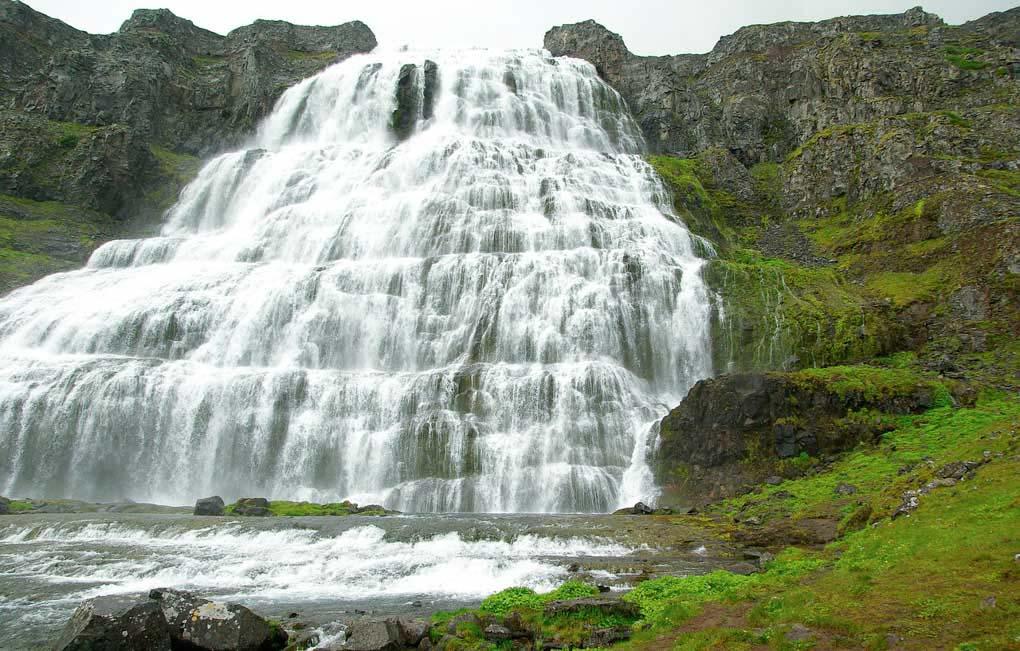 Dynandi Waterfall Iceland