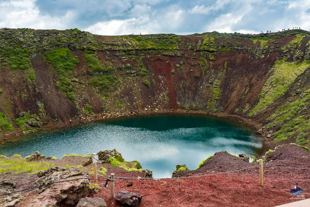 Summer at Kerid Volcanic Crater