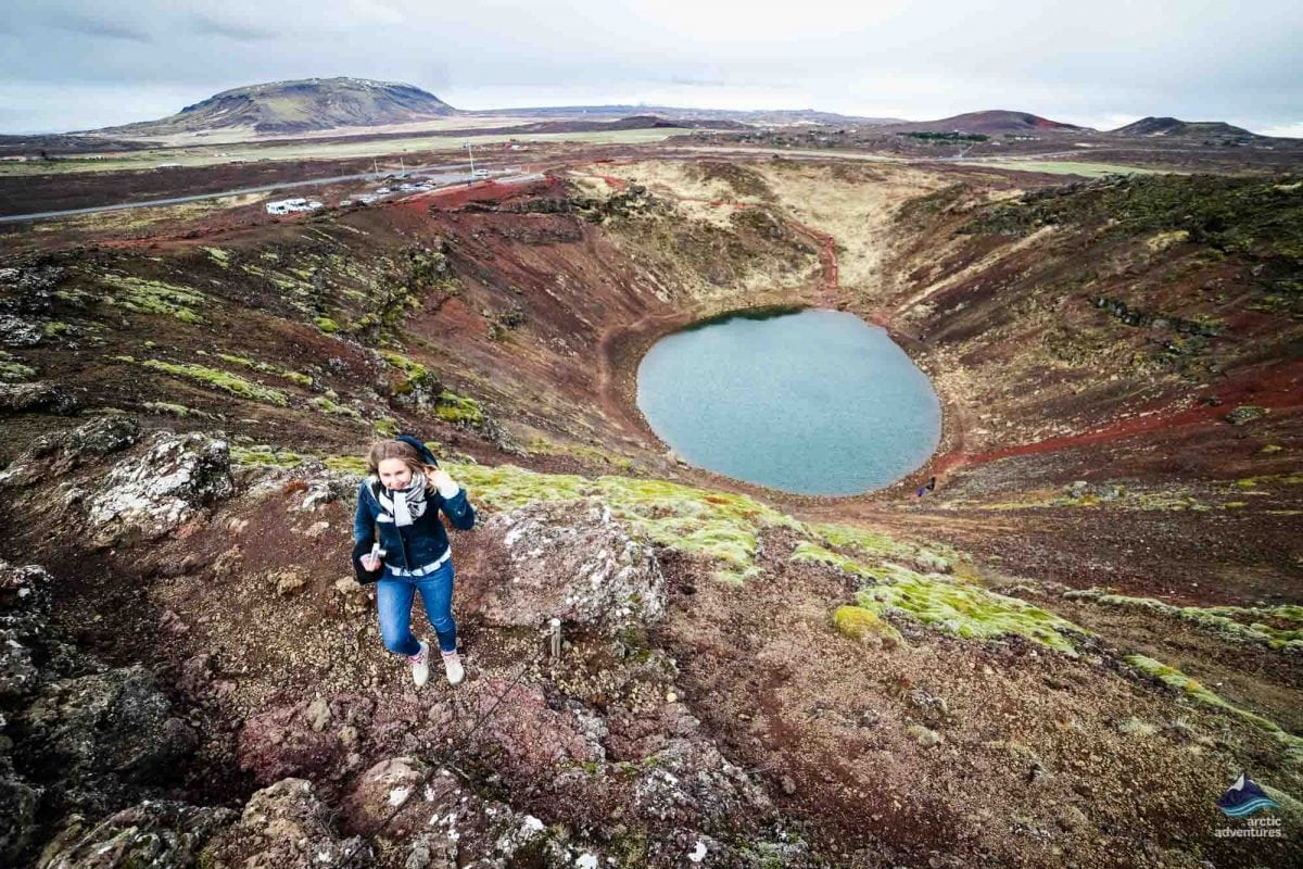 Kerid Volcanic Crater Lake In Iceland Arctic Adventures