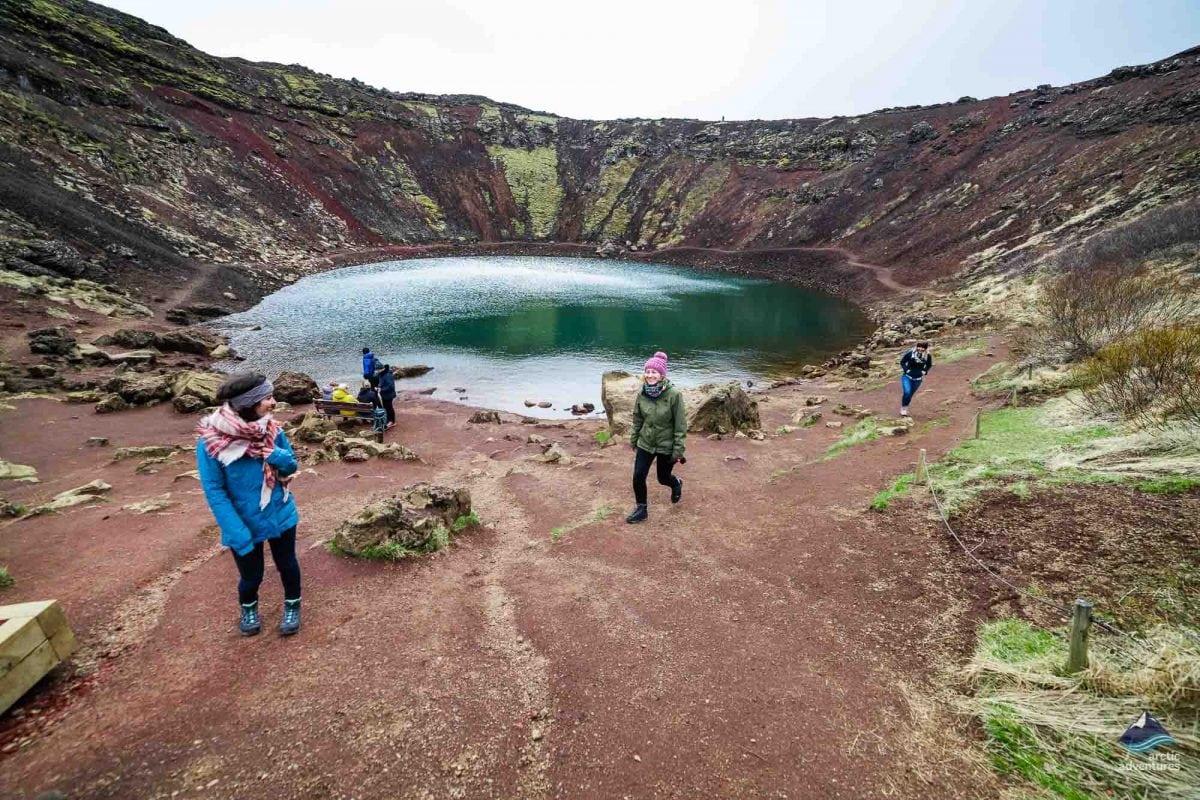 Exploring the Volcanic Crater Kerið