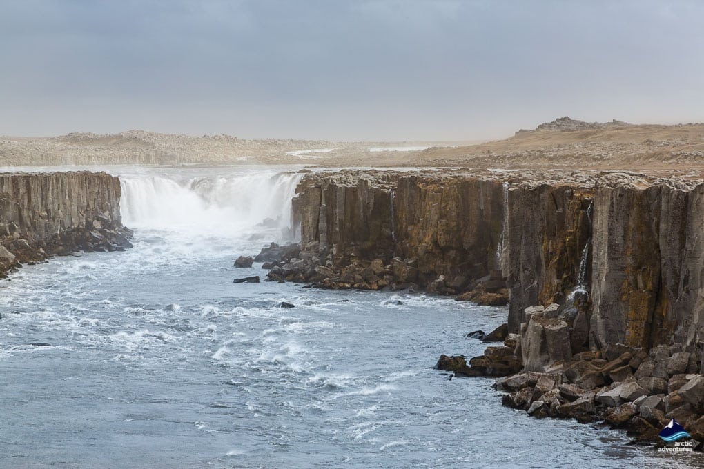 Selfoss Waterfall near Dettifoss