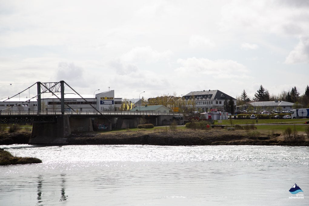 Selfoss Bridge and Town