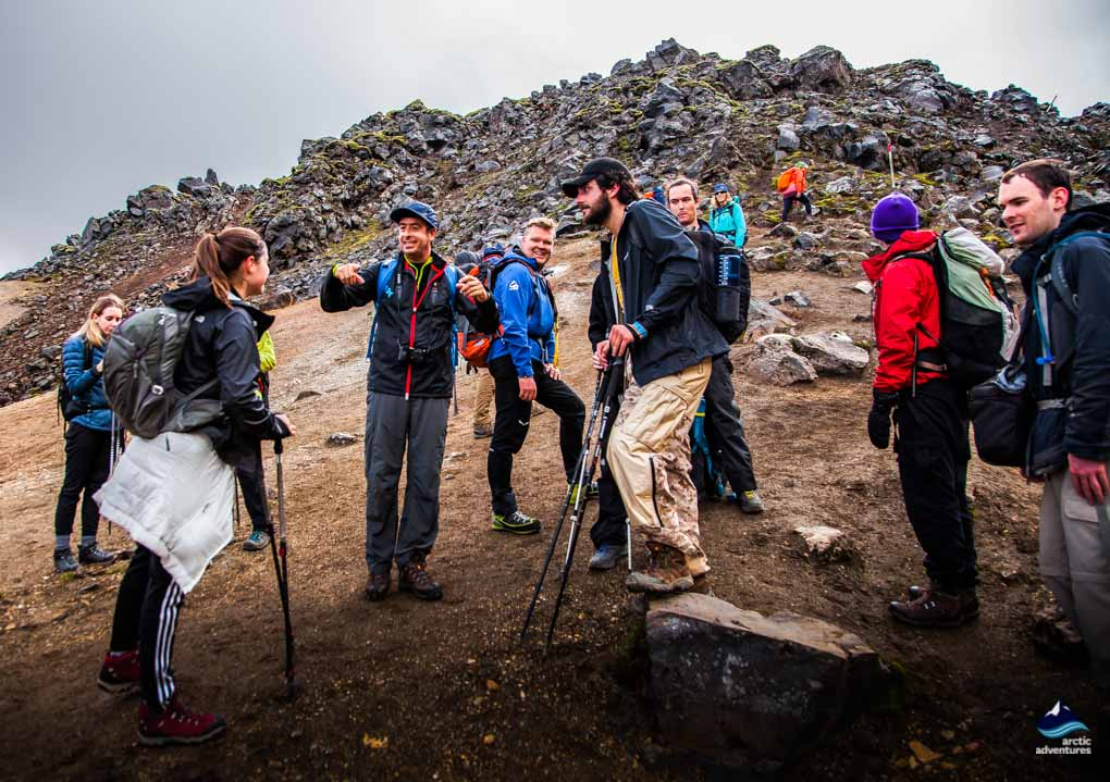 A group on the Laugavegur Trail