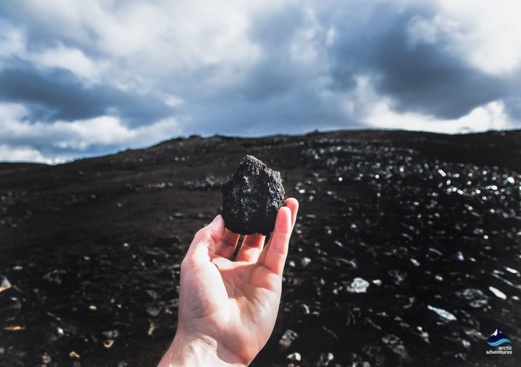 Obsidian Rocks on the Laugavegur Trail