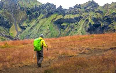 Hiker on the Laugavegur Trail