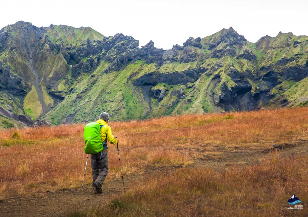 Hiker on the Laugavegur Trail