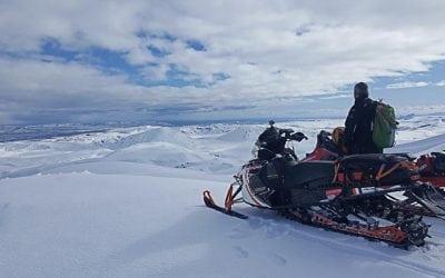 Eyjafjallajokull Glacier Snowmobiling