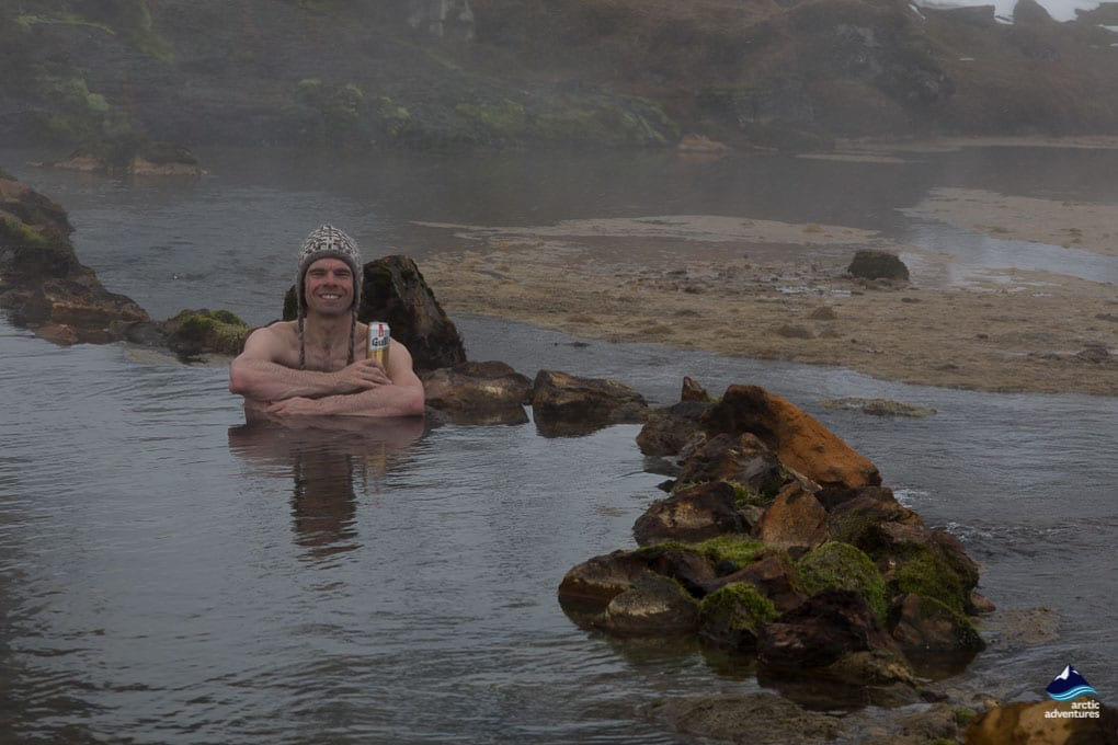 Bathing in Landmannalaugar Pool