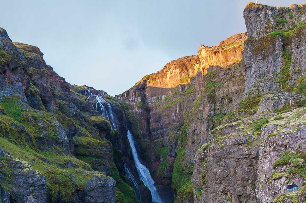 Glymur Waterfall drop