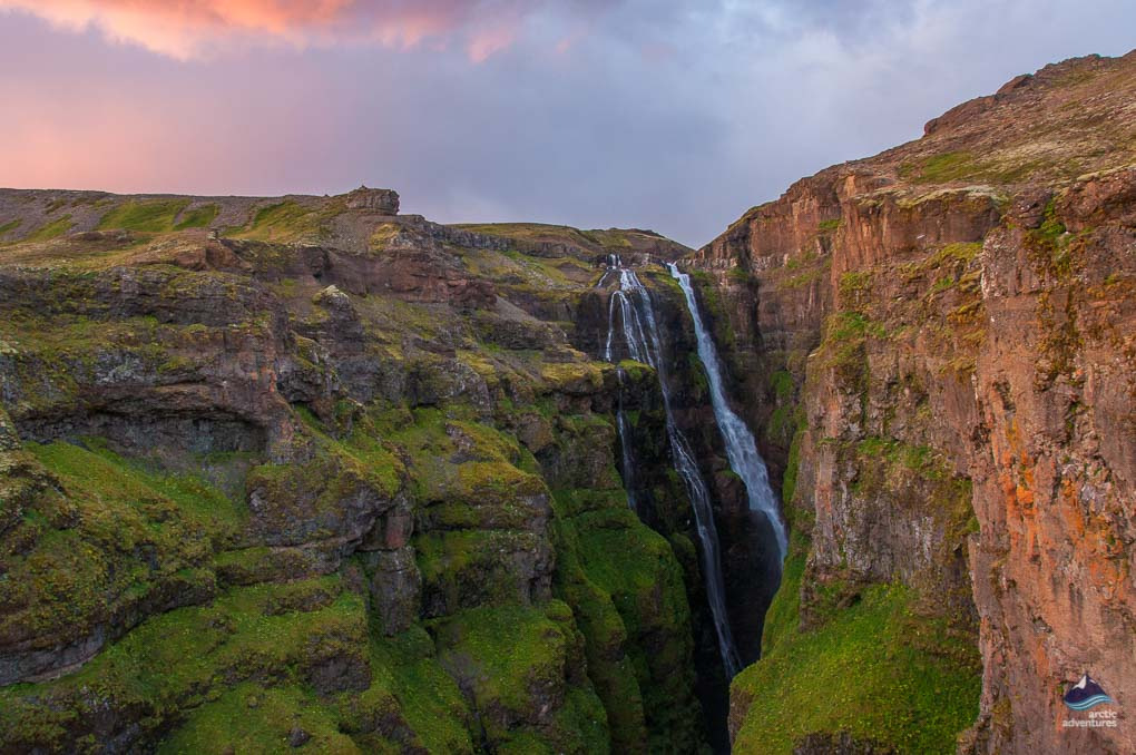 View of Glymur Waterfall