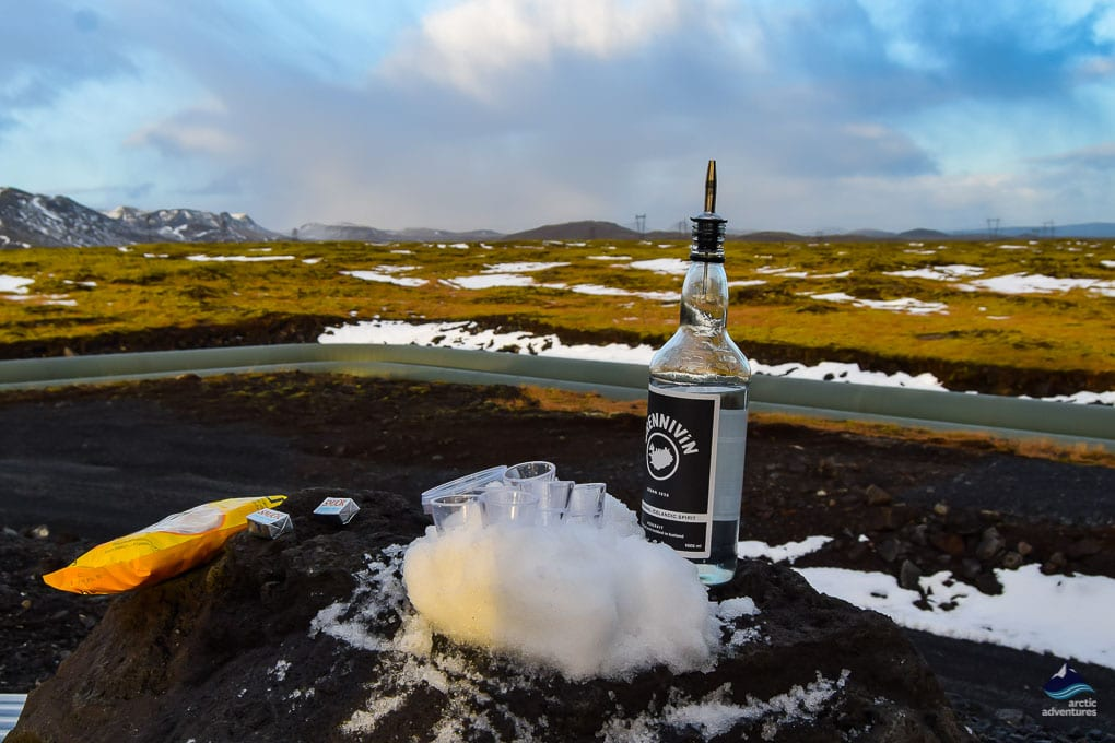 Brennivin on Golden Circle Local Food Tour