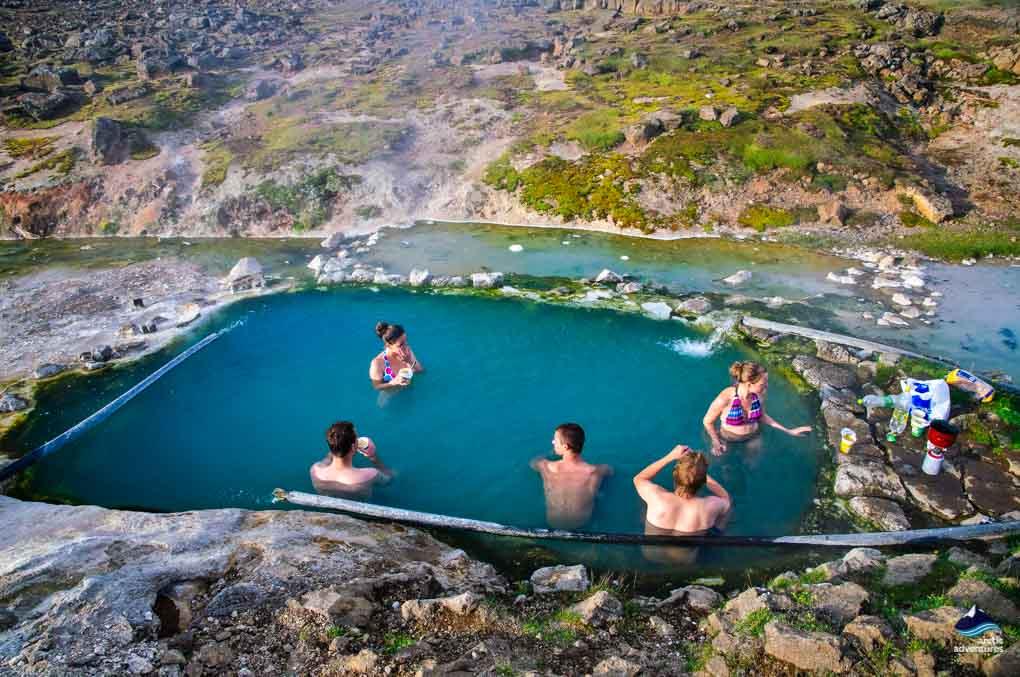 Bathing at Hveravellir Pool