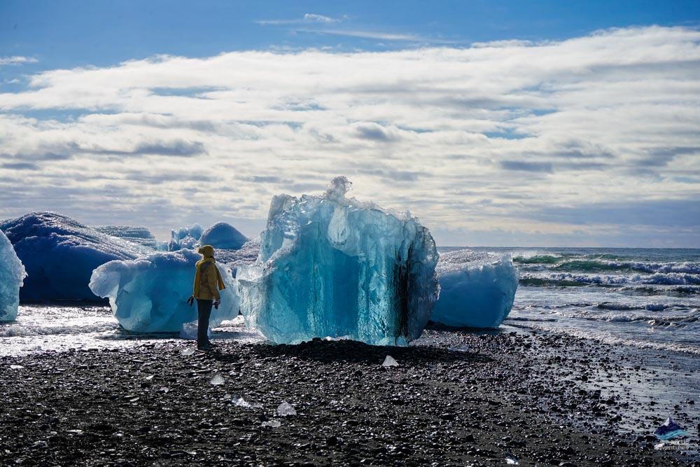 Standing in front of a Iceberg in Iceland
