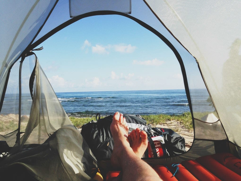 Camping in East Fjords Iceland