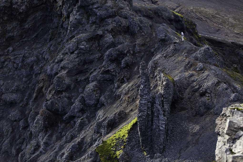 Fimmvorduhals trek aerial view