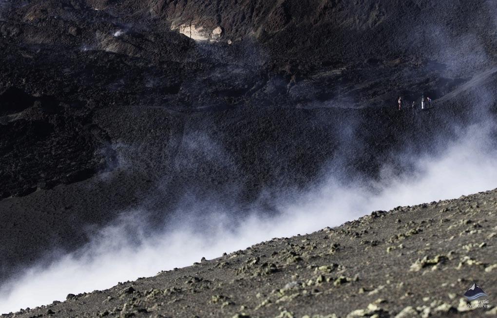 Fimmvorduhals Volcano steam