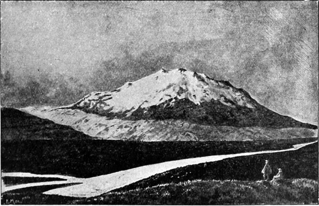 Hekla Volcano Iceland in 1904