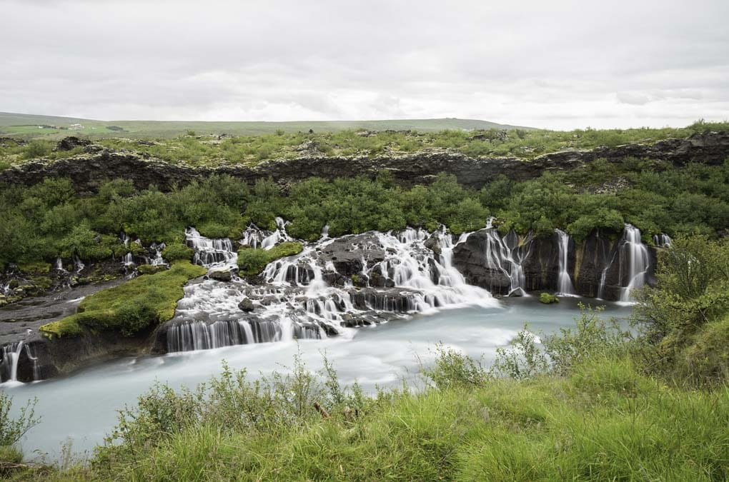 Hraunfossar waterfalls Borgarfjordur Iceland