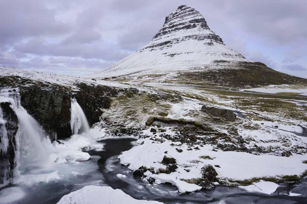 Snowy Kirkjufell
