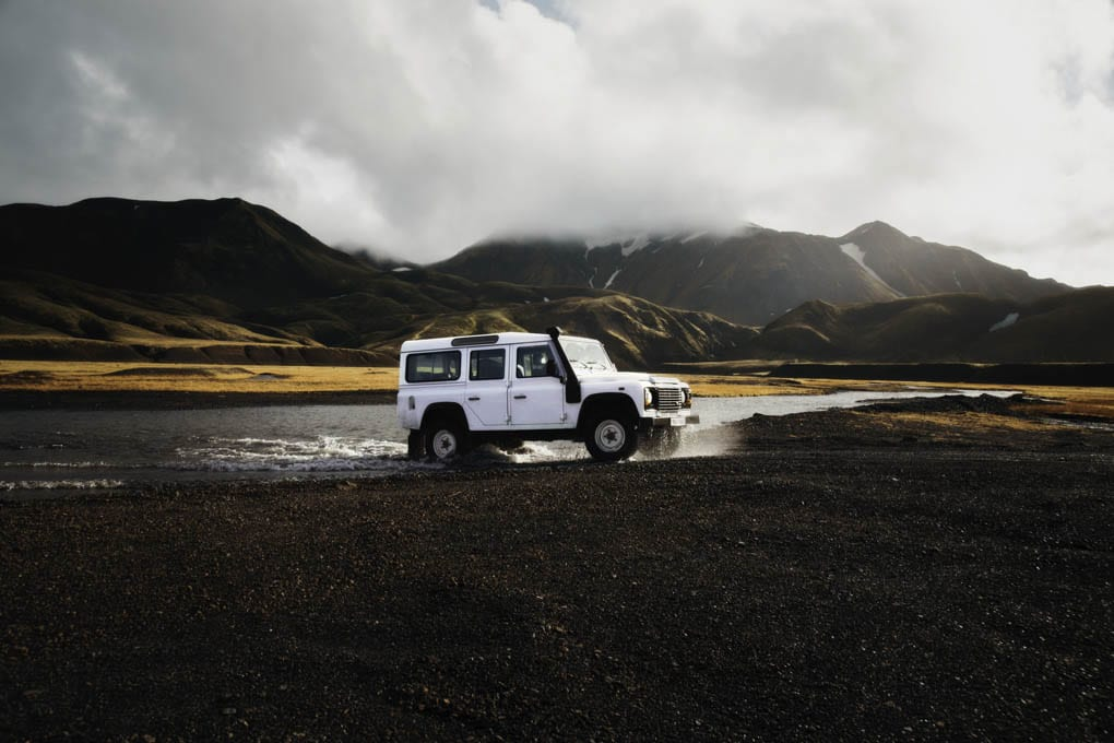 Driving to Landmannalaugar