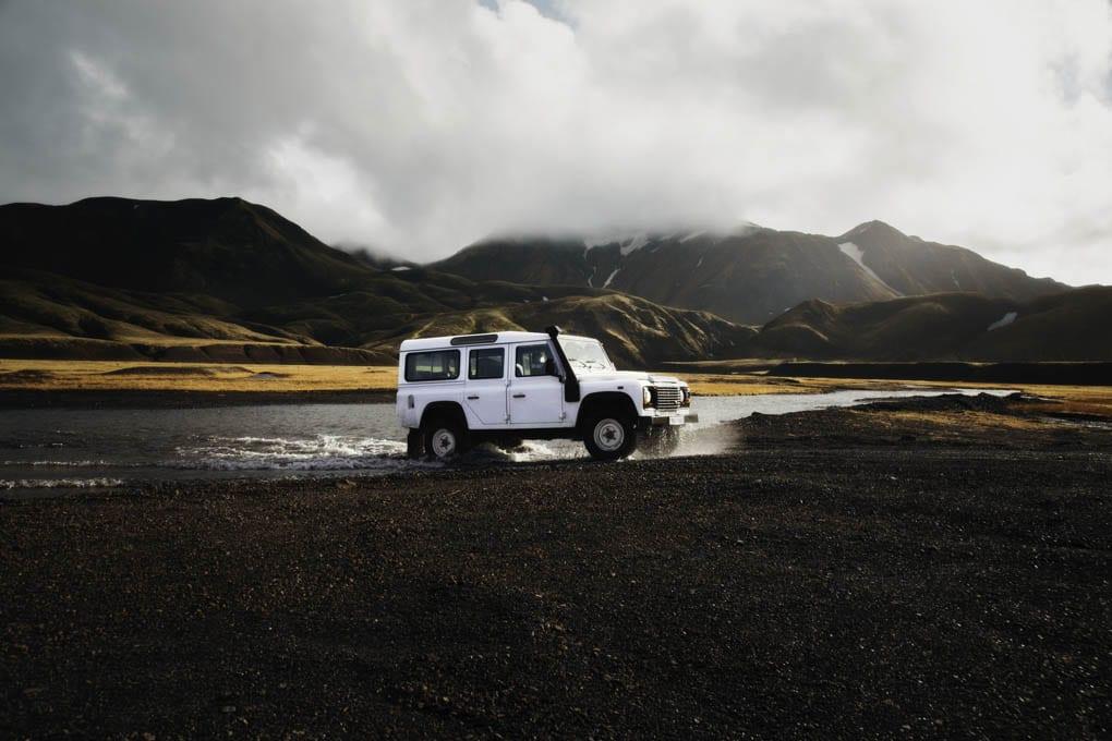 Driving to Landmannalaugar