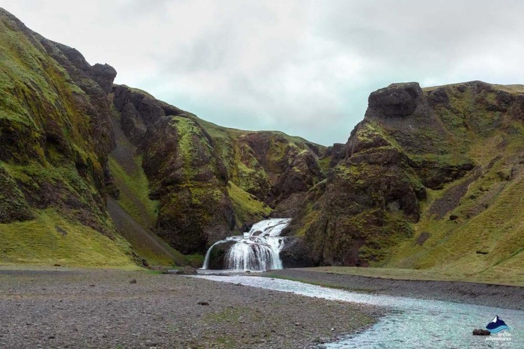 Stjornarfoss Waterfall near Geirland