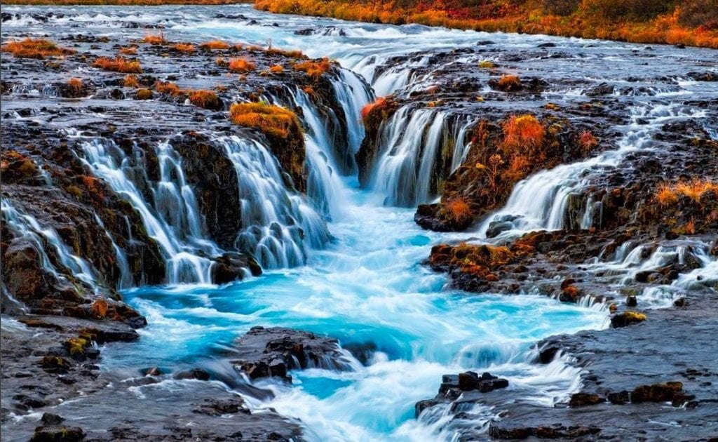 Bruarfoss Waterfall Attractions In Iceland Arctic