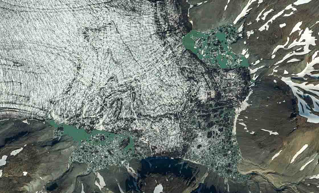 Glacier lagoon in Skaftafell