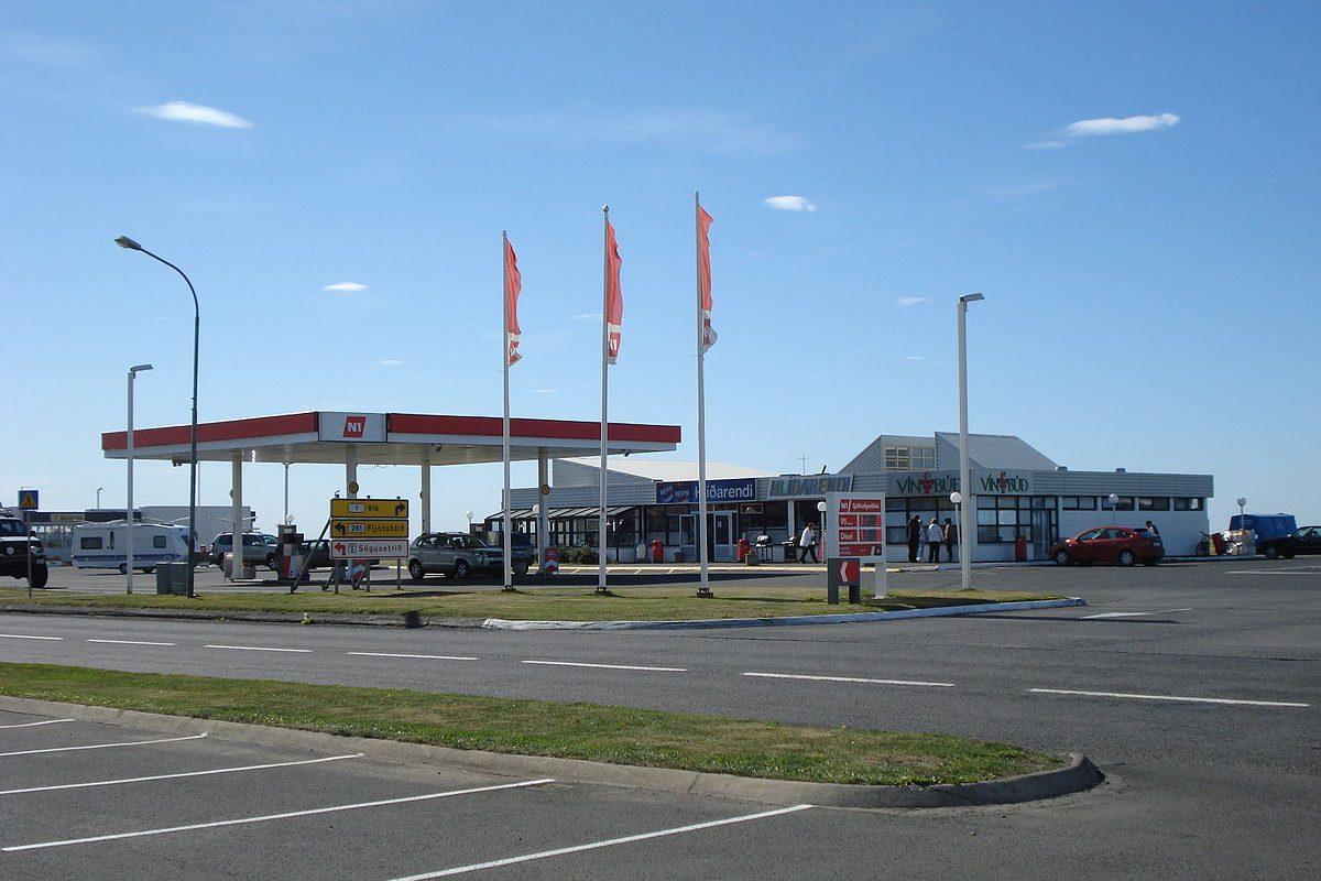 Hvolsvollur Iceland Gas Station