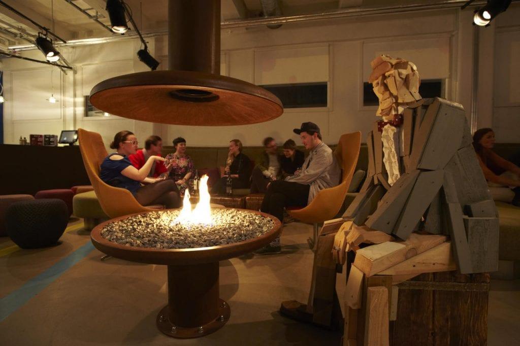 Hotel Marina Lobby Fireplace