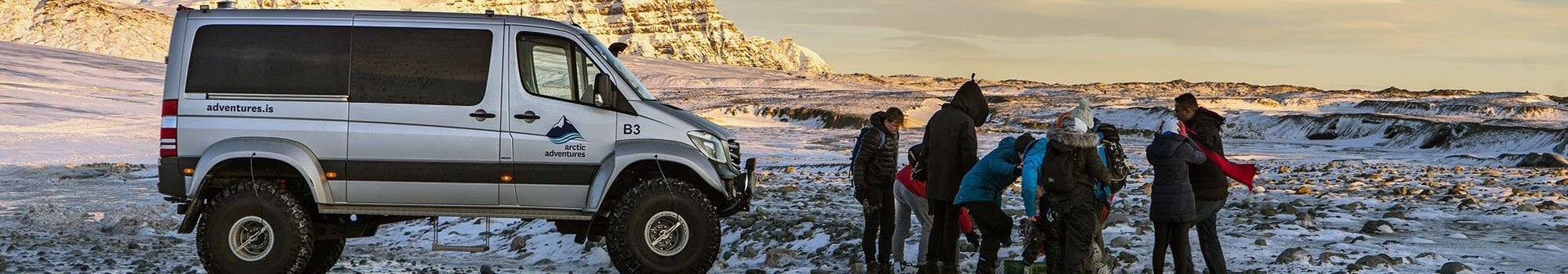 super jeep adventure on Langjokull glacier