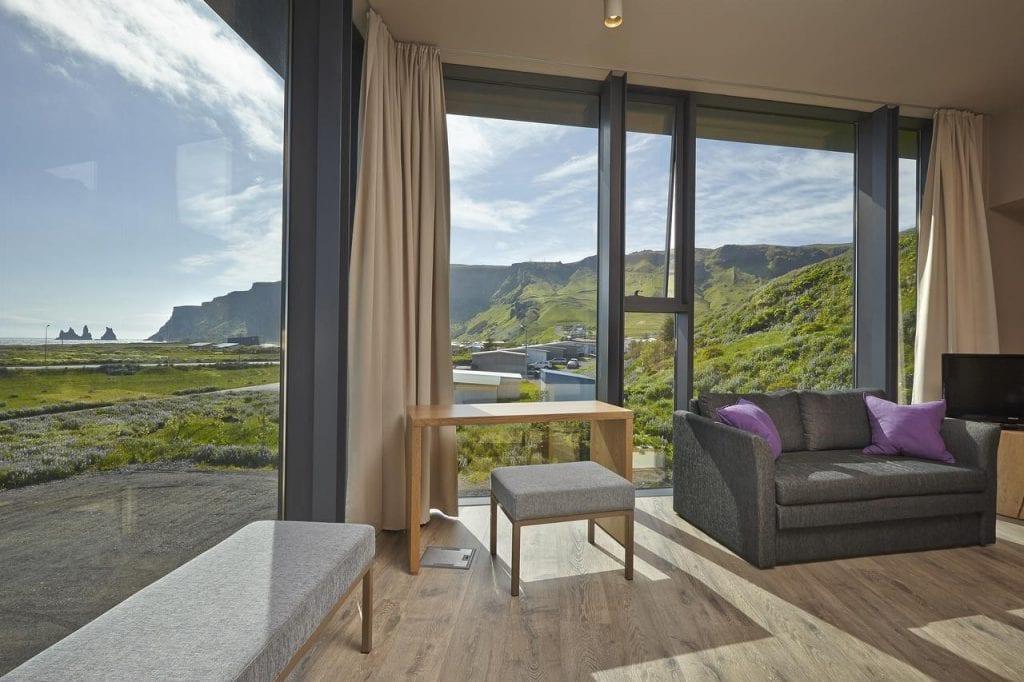 View from room at Icelandair Vik Hotel