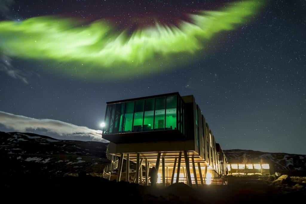 Northern lights at Ion Adventure Hotel