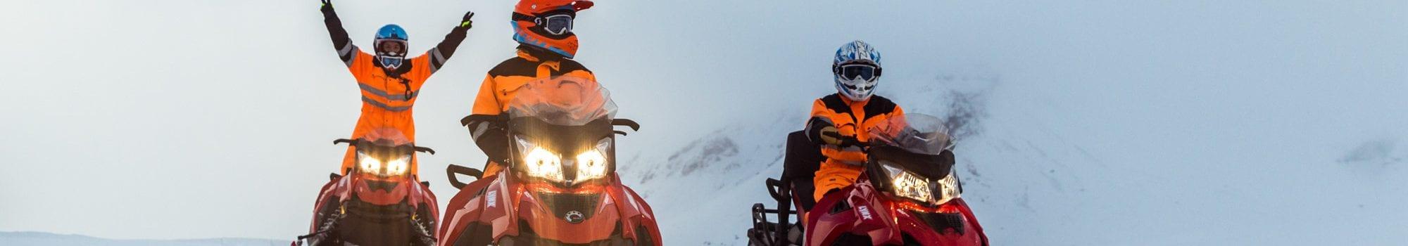 Snowmobile on Langjokull