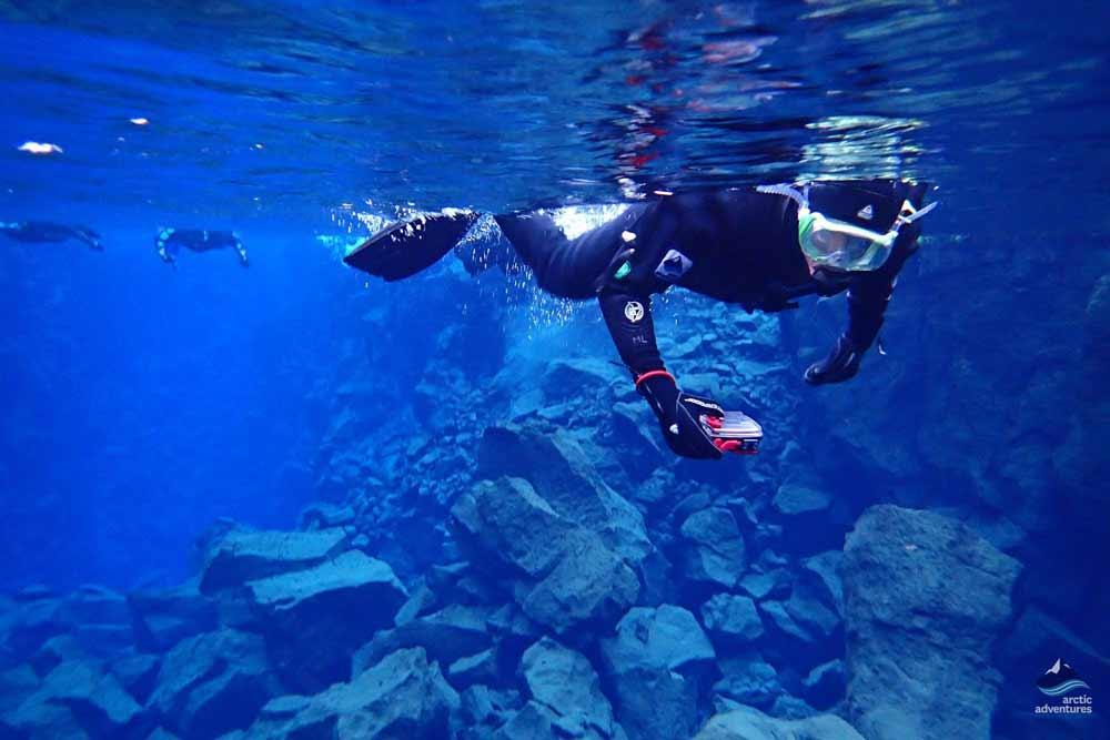 Floating over Silfra